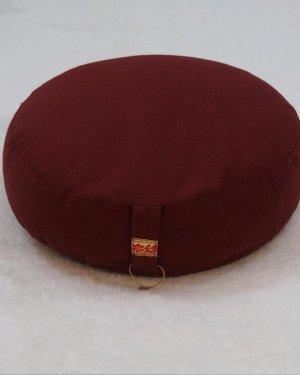 Meditatiekussen rood lager model - Katoen - Boekweit - 33x17